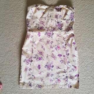 Valleygirl Floral Strapless Dress Size 12
