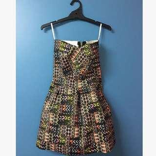 MULTI STRAPLESS BANDAGE DRESS