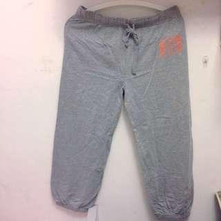 灰色 運動褲 棉褲 七分褲˙