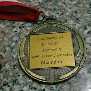 Ntu Ihg 1213 Swimming 4x50m Champion Medal
