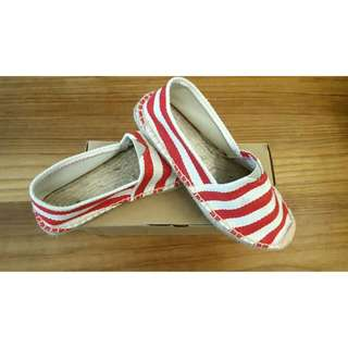 TOMS - Inspired Red Stripes Shoes