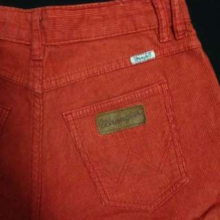 Wrangler red cord high waisted shorts