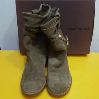 Louis Vuitton 正品 墨綠色 Boots 新淨