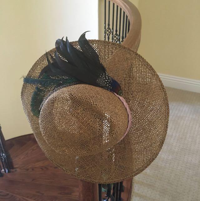 古董羽毛帽