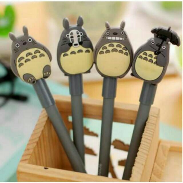 【4隻一組】龍貓中性筆