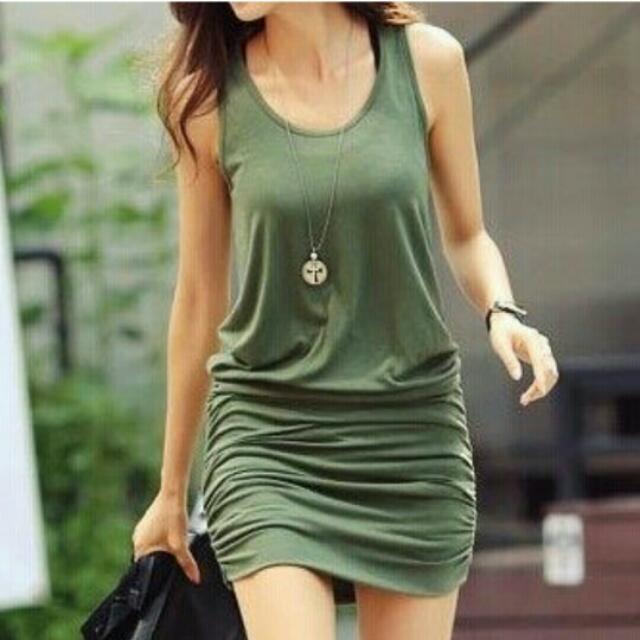 洋裝 墨綠/黑