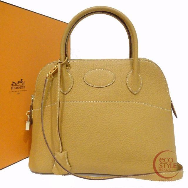 Authentic HERMES Bolide31 Gold Hardware Handbag Natural Fjord 237 6.13