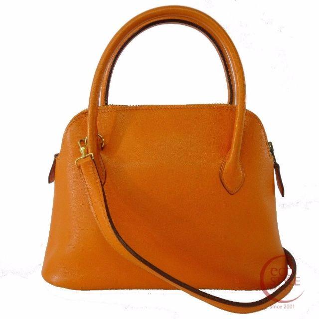 Authentic HERMES Mini Mini Bolide Gold Hardware Handbag orange Swift 175-2 5.30