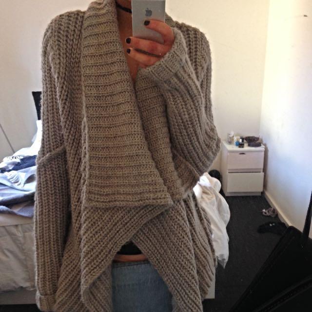 Bardot Grey Super Chunky Knit