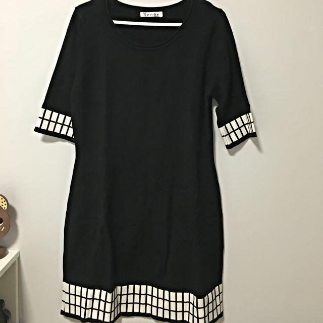 Black Knit Dress