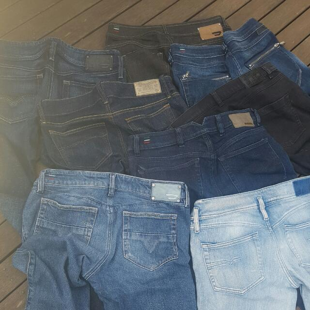 Diesel Jean's - Assorted Styles Colours & Sizes