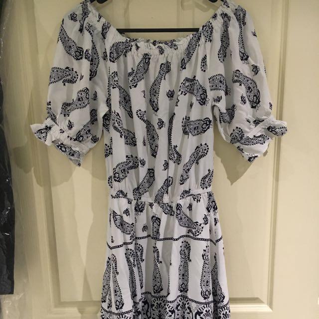 DOTTI Off The Shoulder Dress Size 6