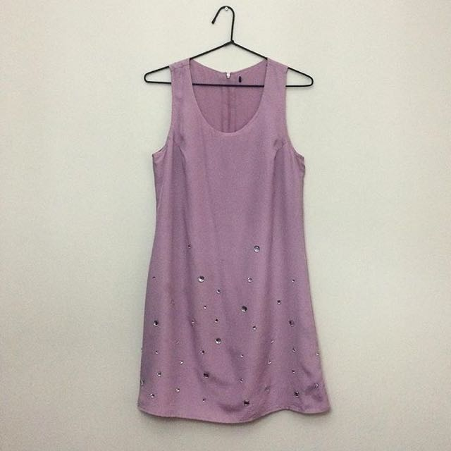Embellished Lilac Dress
