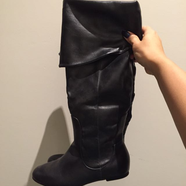 Foldable Knee/thigh Boots