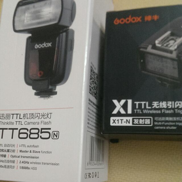 Godox 神牛   T T685 N 閃燈+ XT1-N發射器 Nikon專用