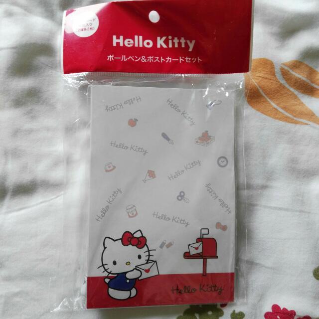 Hello Kitty 明信片+原子筆 日本購回