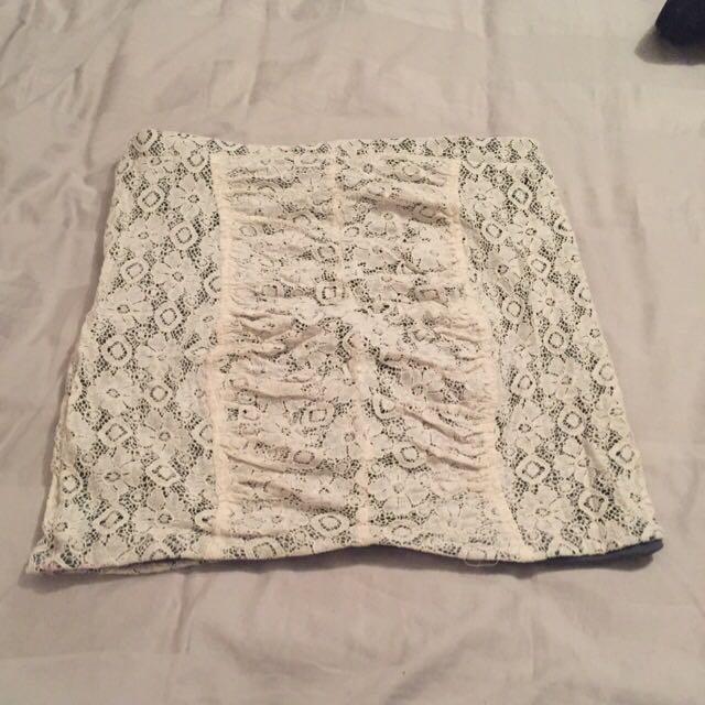 High Waist Lace Skirt