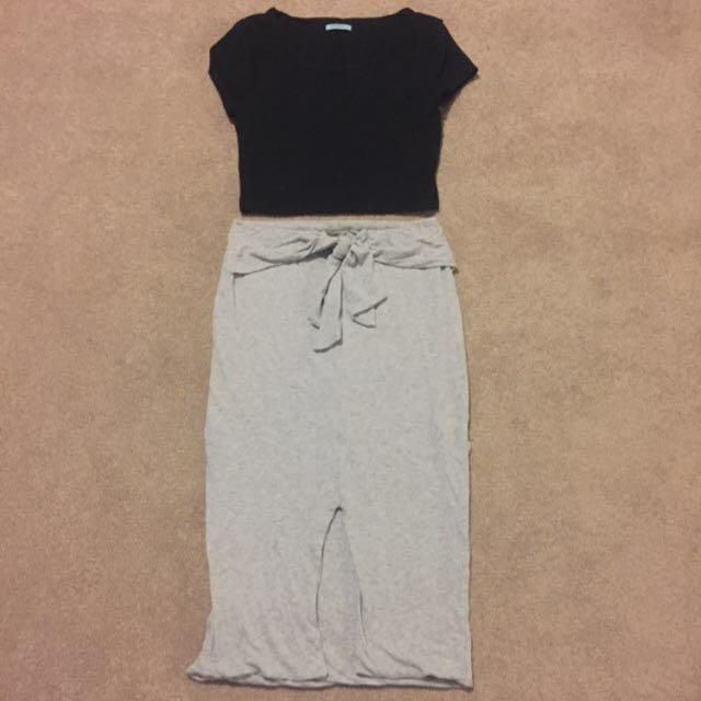 Kookai Skirt and Crop