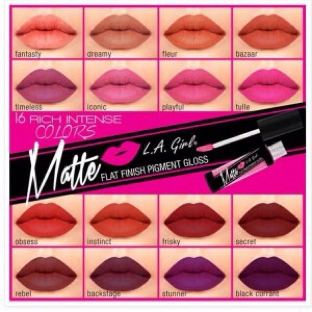 L.A Girl Matte Pigment Gloss