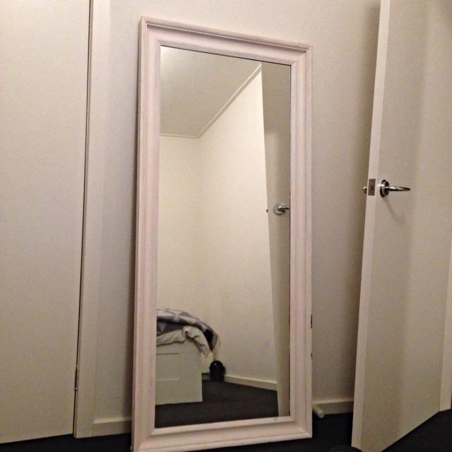 Large Custom Distressed Mirror