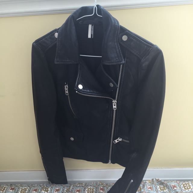 Leather Jacket - Top Shop Size 4