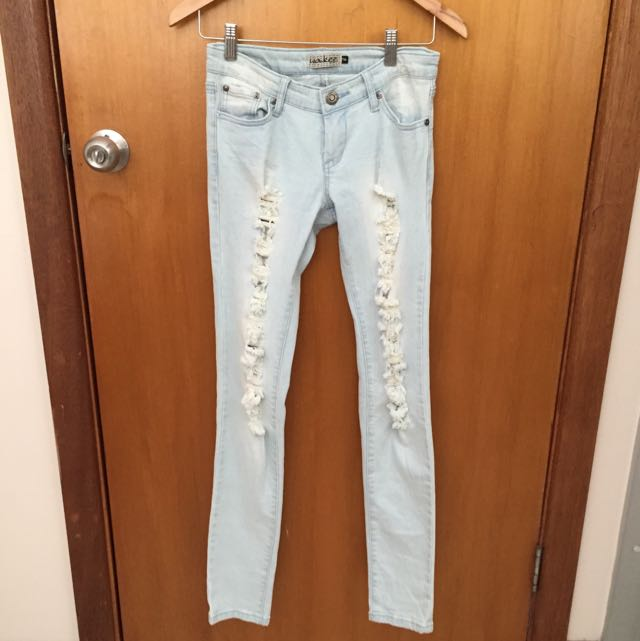 Light Blue Ripped Denim Jeans