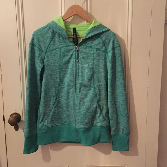 Lorna Jane Hooded Jkt Green Size M (8-10 Women's)