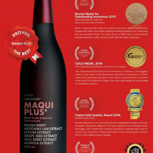 Maqui Plus Monavie Acai Berry Juice Maqui Berry Juice