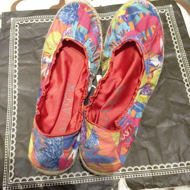 Mellisa折式草蓆平底鞋