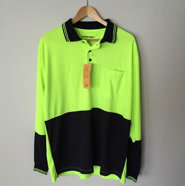 Men's Long Sleeve Work Polo