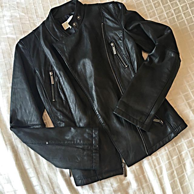 Michael Kors Leather Jacket, Size XS