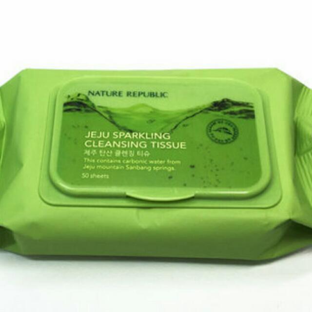 Nature Republic濟州島碳酸H2O卸妝紙巾 [現貨+預購]