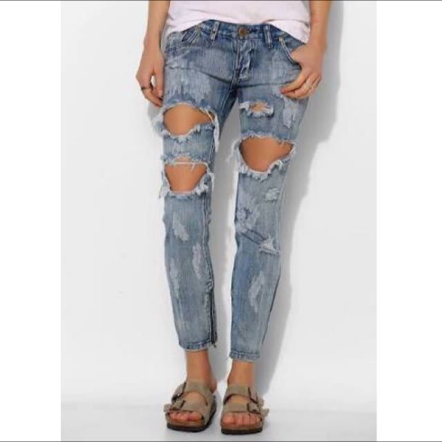 New With Tags One Teaspoon Cobain Trashed Freebird Jeans