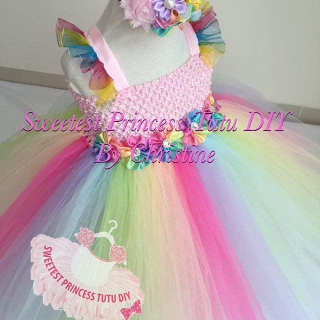 c8d03ca9ca9e Princess Rainbow Tutu Dress, Babies & Kids on Carousell