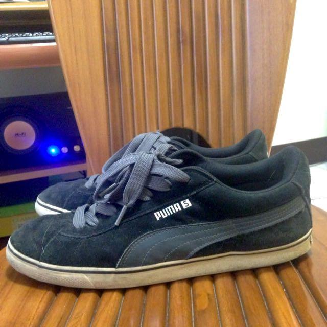 PUMA 麂皮 黑灰 板鞋