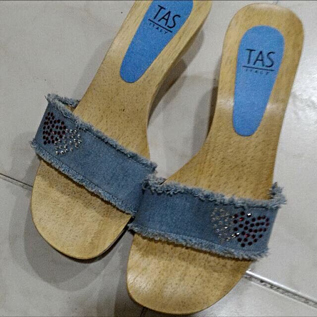 TAS 牛仔跟鞋