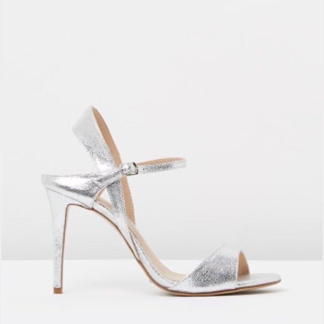 "Tony Bianco ""Lindy"" Heels, Silver, Sz 7.5"