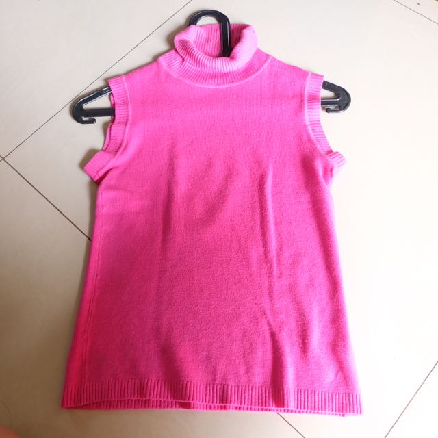 turtle neck pink short sleeve