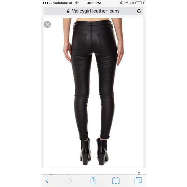 Valleygirl Leather Jeans