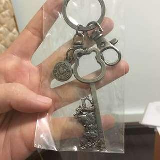 HongKong Disneyland Keychain - Pooh & Friends's Key Shape