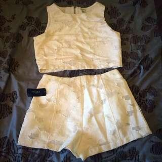 Lace Short & Crop Set