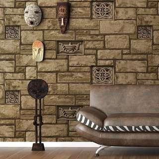 2016 korea wallpaper 3D act stone design 4A
