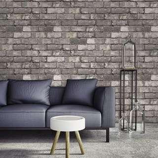 2016 korea wallpaper 3D grey stone design 6A