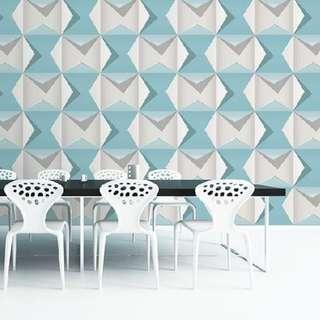2016 korea wallpaper modern blue 9A