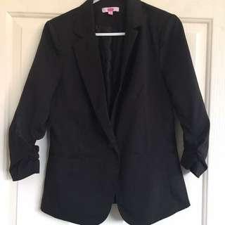 Women's black 3/4 Blazer