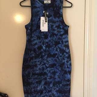 STUSSY Blue Tie Dye Dress