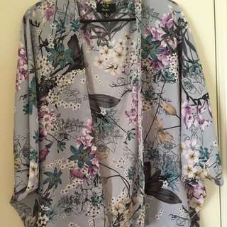 Floral Pattern Throw Over