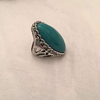Teal Ring - Fits Size 6 Or 7