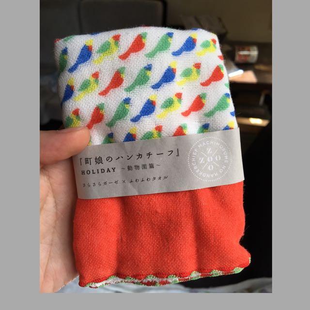 日本製動物園100%棉手帕手巾