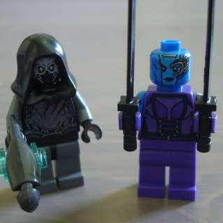 Lego 76020 Nebula & Sakaaran Soldier Minifigures with accessories